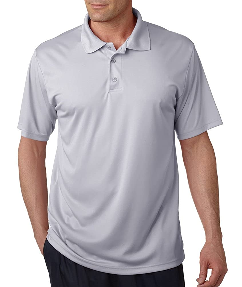 0f1c6c80b C2 Sport Mens Performance Polo (5300) Silver at Amazon Men's Clothing store: