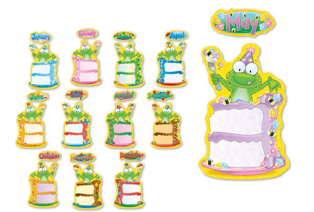 Amazoncom Carson Dellosa Frog Birthday Bulletin Board Set 110112