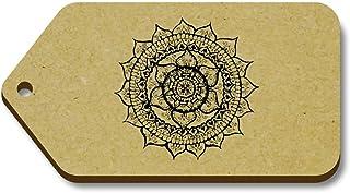 Azeeda 10 x 'Mandala Élégant' etiquettes de Bagage / Cadeau en Bois (TG00068951)