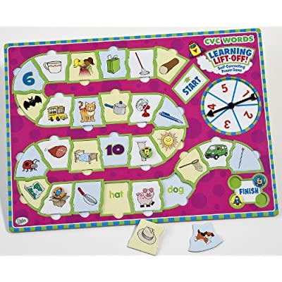 Didax Educational Resources Learning Lift-Off! CVC Words Game: Toys & Games