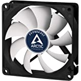 Arctic F9 PWM PST - 92 mm PWM PST Case Fan, Silent Cooler with Standard Case, PST-Port (PWM Sharing Technology), Regulates RP