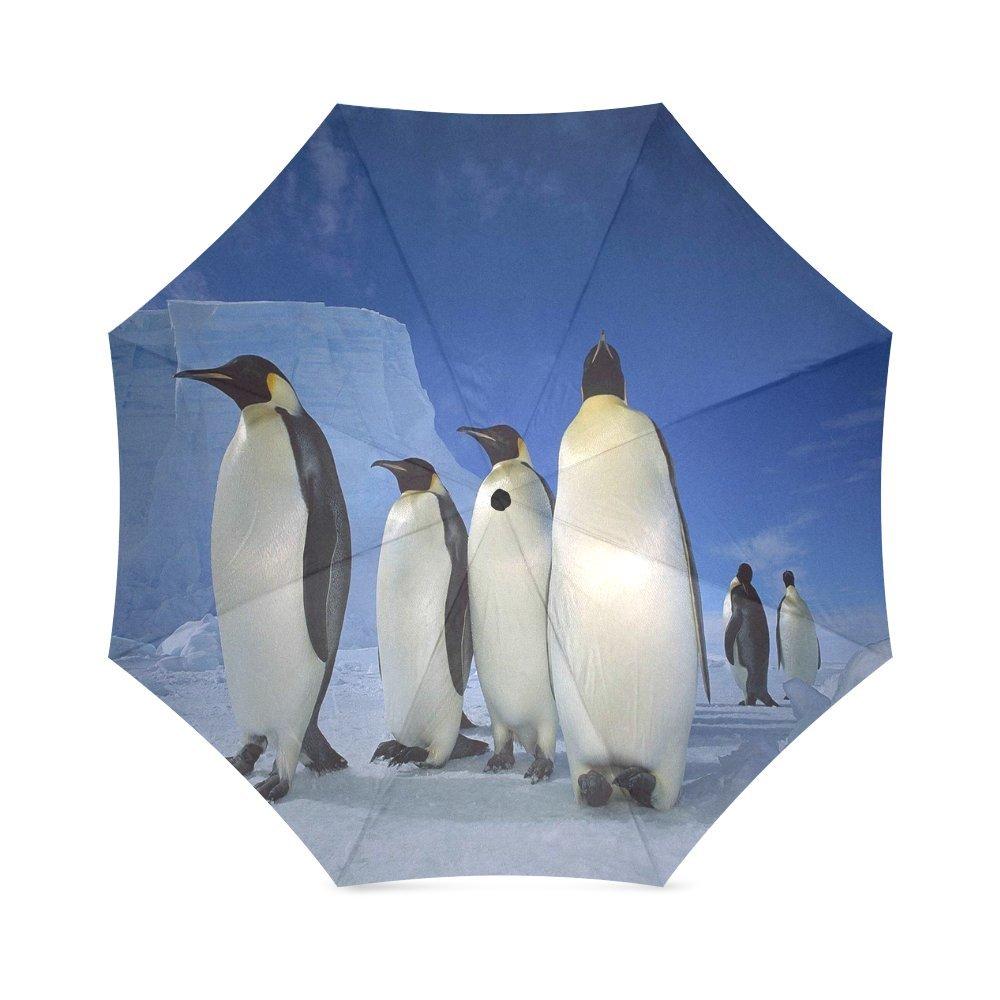 カスタムかわいいペンギンコンパクト旅行防風防雨折りたたみ式傘   B075L69WKC