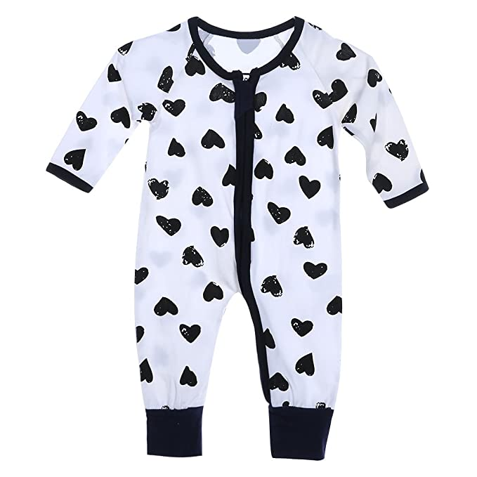 ad9006def7b9 Chinatera Baby Boy s One Piece Long Sleeve Rompers Heart Shaped ...