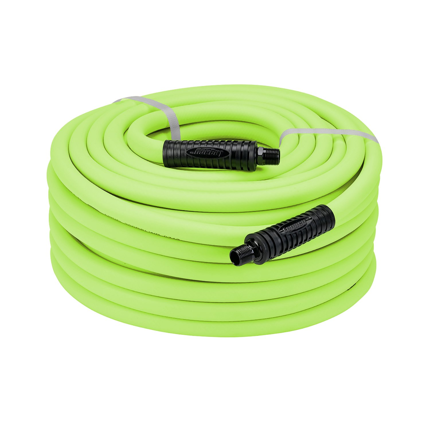 Flexzilla Air Hose, 1/2 In. X 50 Ft., 3/8 In. MNPT Fittings Heavy Duty,  Lightweight, Hybrid, ZillaGreen   HFZ1250YW3   Air Tool Hose Reels    Amazon.com