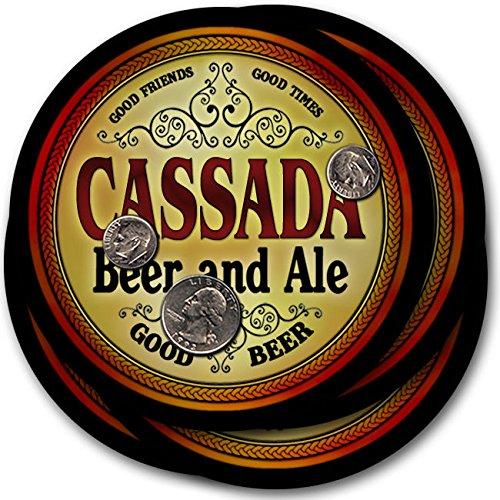 Cassadaビール& Ale – 4パックドリンクコースター   B003QXVQJM