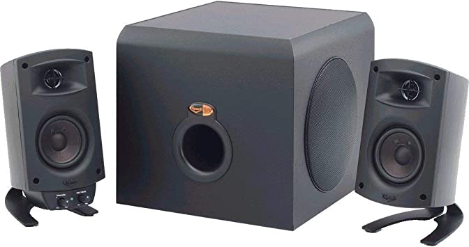 Klipsch ProMedia 100.10 THX Certified Computer Speaker System - 10-Piece Set  (1001010400) With Bluetooth Adapter