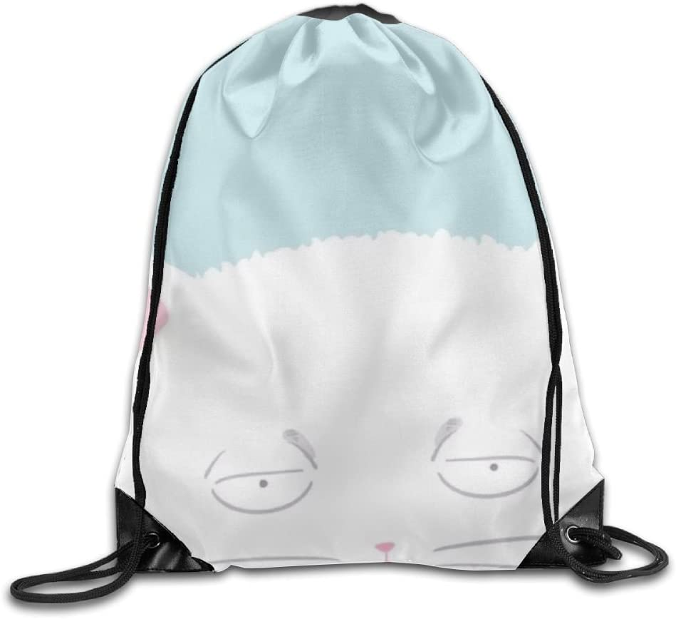 Cartoon Cat Drawstring Backpack Rucksack Shoulder Bags Training Gym Sack For Man And Women
