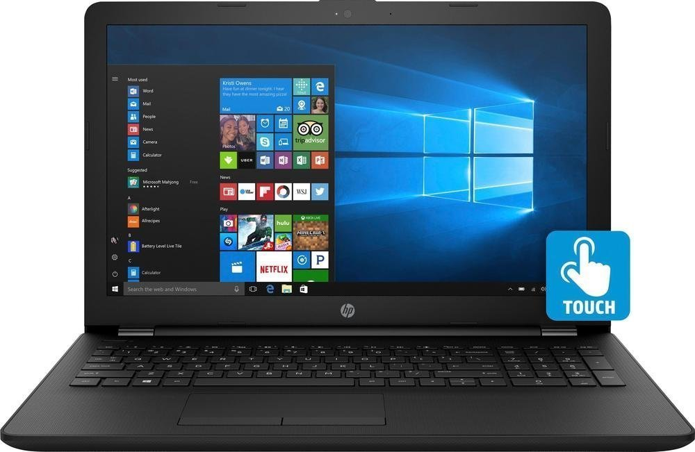 "2018 Newest Premium HP 15.6"" Touchscreen HD Laptop, Intel Dual Core i3-7100U Processor 2.40GHz, 8GB DDR4 RAM, 1TB HDD, HDMI, Bluetooth, Webcam, HD Graphics 620, DVD-RW, 8-Hours Battery, Win 10"