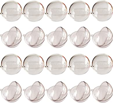Bolas Transparentes En Forma De Coraz/ón De Bricolaje Regalo Abierto De Pl/ástico Fiesta De La Boda Acr/ílico Fillable Bola 10pcs