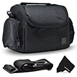 Well Padded Fitted Medium DSLR Camera Case Bag w/ Zippered Pockets and Accessory Compartments for Canon EOS Rebel T6i T6S T5i T5 T4i T3i T3 T2i SL1 EOS 70D 60D 7D 6D 5D 750D 700D 650D 600D 550D 1200D 1100D 100D EOS M3 M2 T1i XTi XT SL1 XSi 7D Mark II DSLR