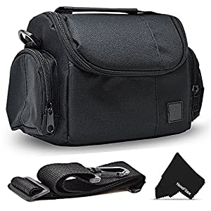 61NUht5 EUL. SS300  - Well Padded Fitted Compact Medium DSLR Camera Case Bag w/Zippered Pockets and Accessory Compartments for Canon EOS Rebel…