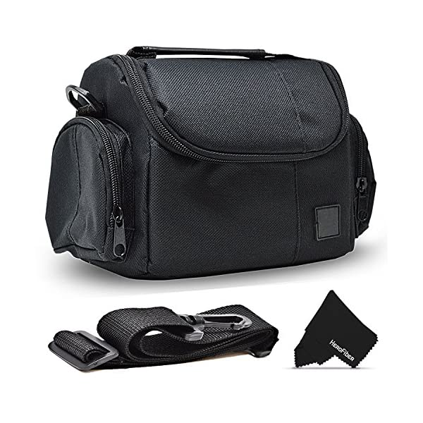 61NUht5 EUL. SS600  - Well Padded Fitted Compact Medium DSLR Camera Case Bag w/ Zippered Pockets and Accessory Compartments for Canon EOS…