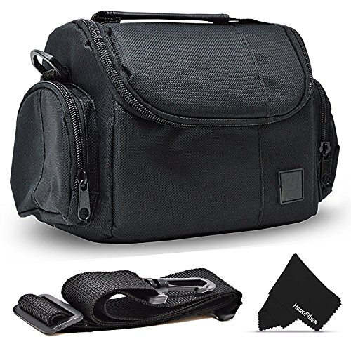 Well Padded Fitted Compact Medium DSLR Camera Case Bag w/Zippered Pockets and Accessory Compartments for Canon EOS Rebel T7i T6i T6S T5i T5 T4i T3i T3 T2i SL1 EOS 80D ()