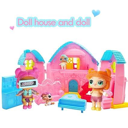 Amazon Com Ruizhijun Surprise Dollhouse Princess Doll House Toy