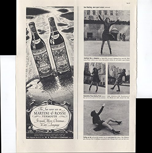 The Sun Never Sets On Martini & Rossi Vermouth It Means Merry Christmas In Any Language 1937 Vintage Antique Advertisement