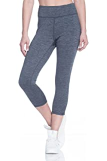 0ea091c8981b2 Gaiam Women's Capri Yoga Pants - Performance Spandex Compression Legging