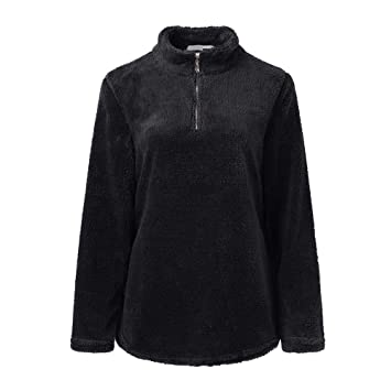 Abrigos para Mujer Mujeres Outwear Chaqueta de Invierno Camisetas de Manga Larga Blusa de Invierno cálido Sudadera con Cremallera Suéteres de Lana Top ...