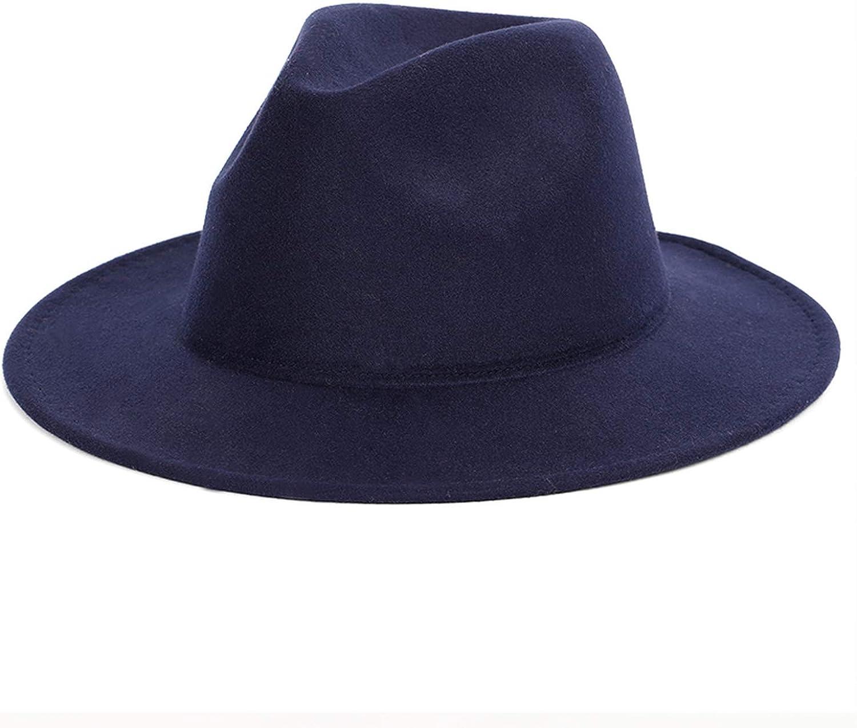 Hot New Solid Color Wide Brimmed Fedoras Autumn Spring Summer Vintage Hats Jazz Classic Elegant Top Felt Hat