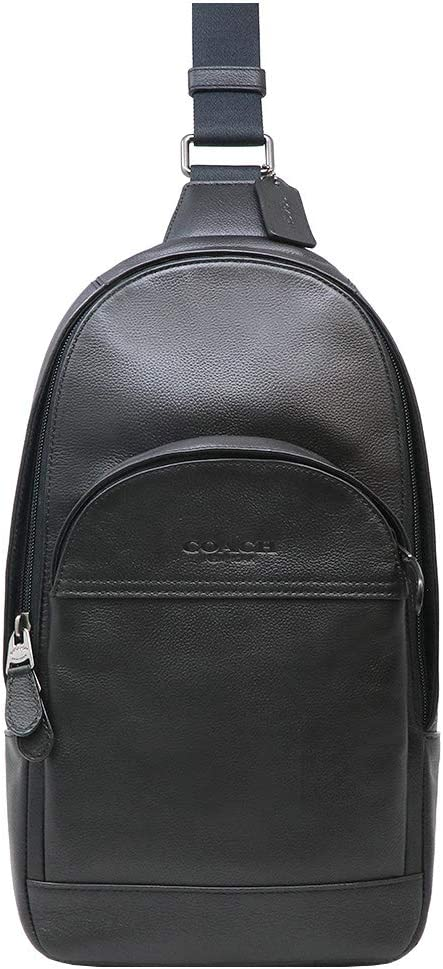 Coach Sling Pack Bag Charles F39942 Charcoal And Black Msrp $350