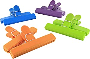 Ram-Pro Large Chip Clips set, Sealing Clips for Food and Snack Bag Helps to Safely closed, Airtight and Watertight Plastic Bags and Make Your Food Stay Fresh Longer - 8 Per Pack (Pack of 2)