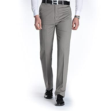 f7a9a085616 Amazon.com  OnIn Men Autumn Men s Business Casual Pants Straight Tube In  The Waist and Trousers Cotton Father s Trousers  Clothing