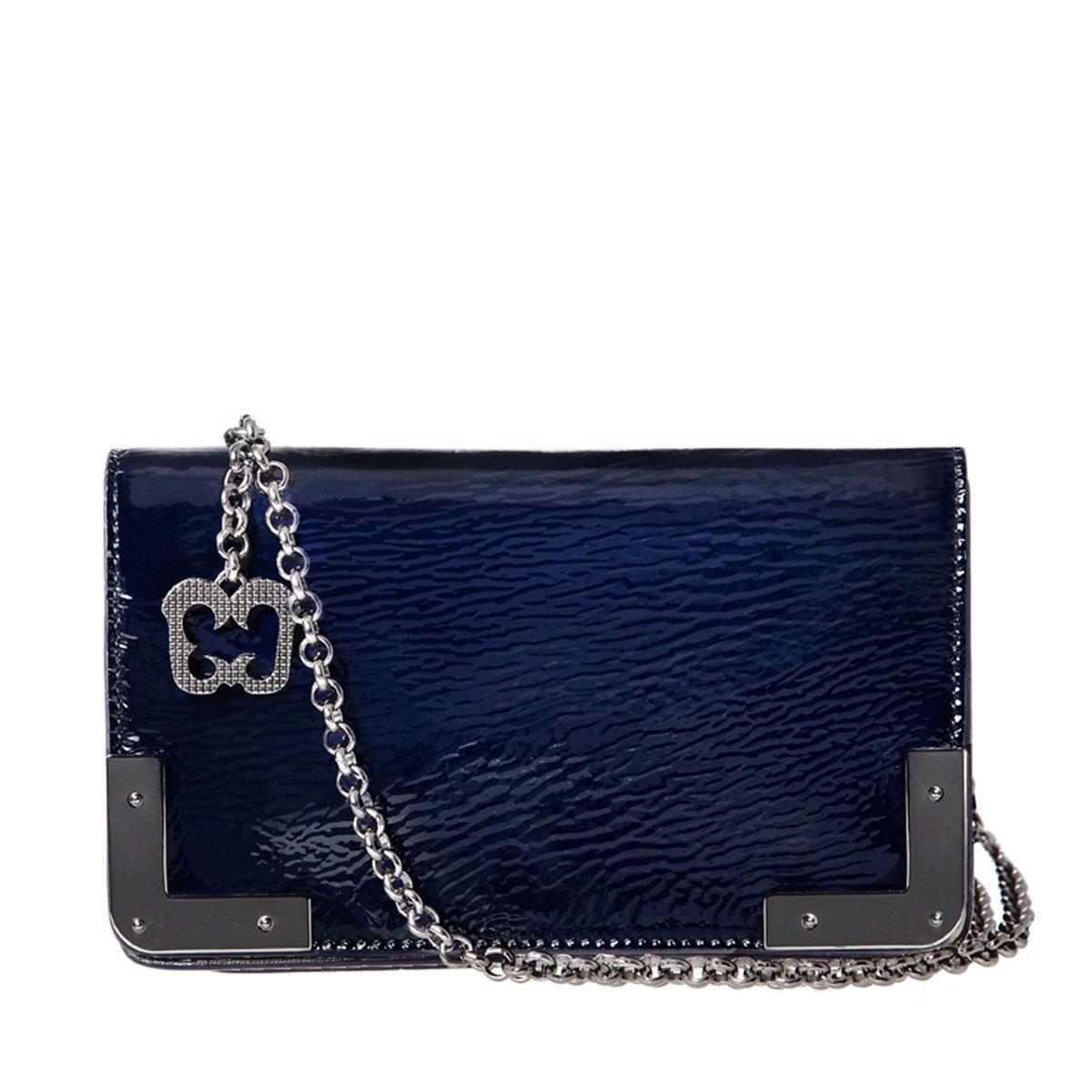 Eric Javits Luxury Fashion Designer Women's Handbag - Cassidy - Navy Mix