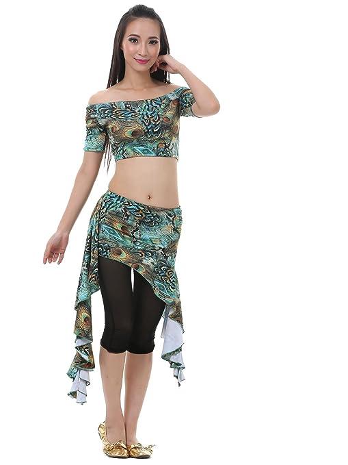 Dance Fairy verde falda de tul juego del bellydance pavo de ...