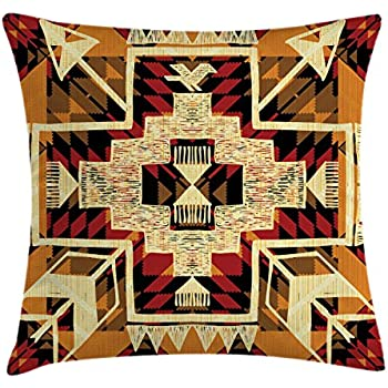 Amazon Emvency Throw Pillow Cover Tribal Native American Indian New Native American Decorative Pillows