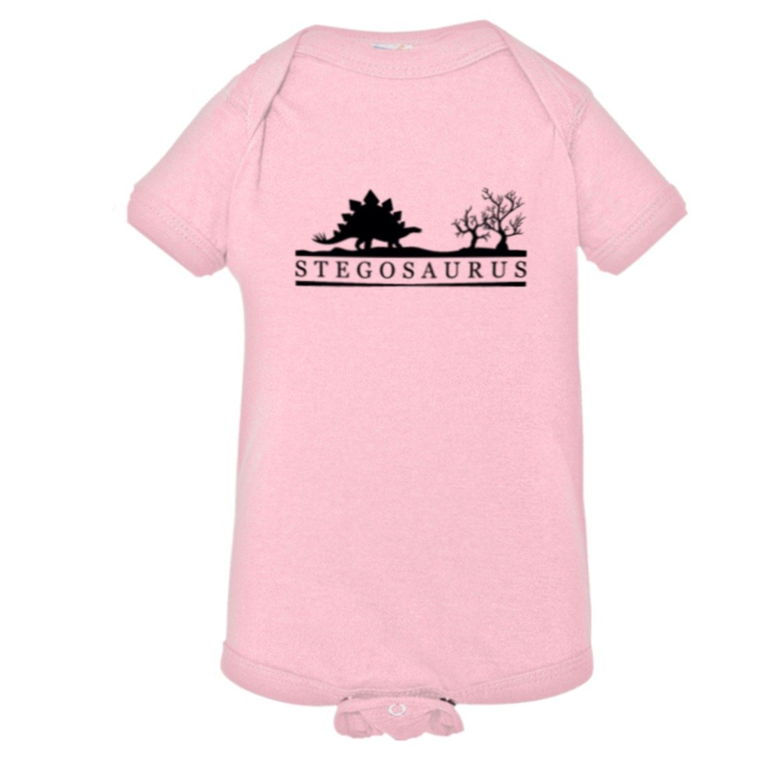 PleaseMeTees Baby Stegosaurus Educational Dinosaur Jurassic HQ Bodysuit 1-Piece