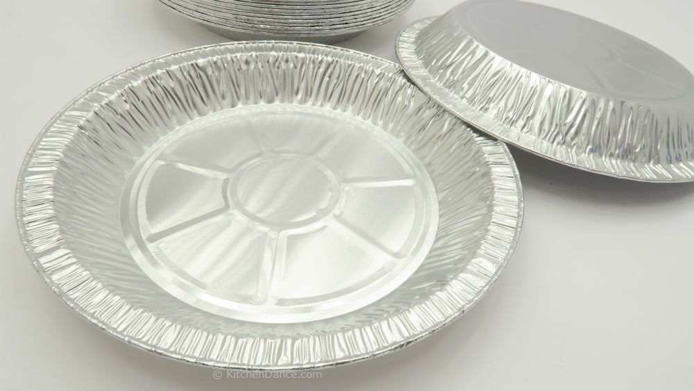 KitchenDance 9'' Medium Depth Disposable Pie Pans- 1'' deep- 24 oz. Capacity (500)