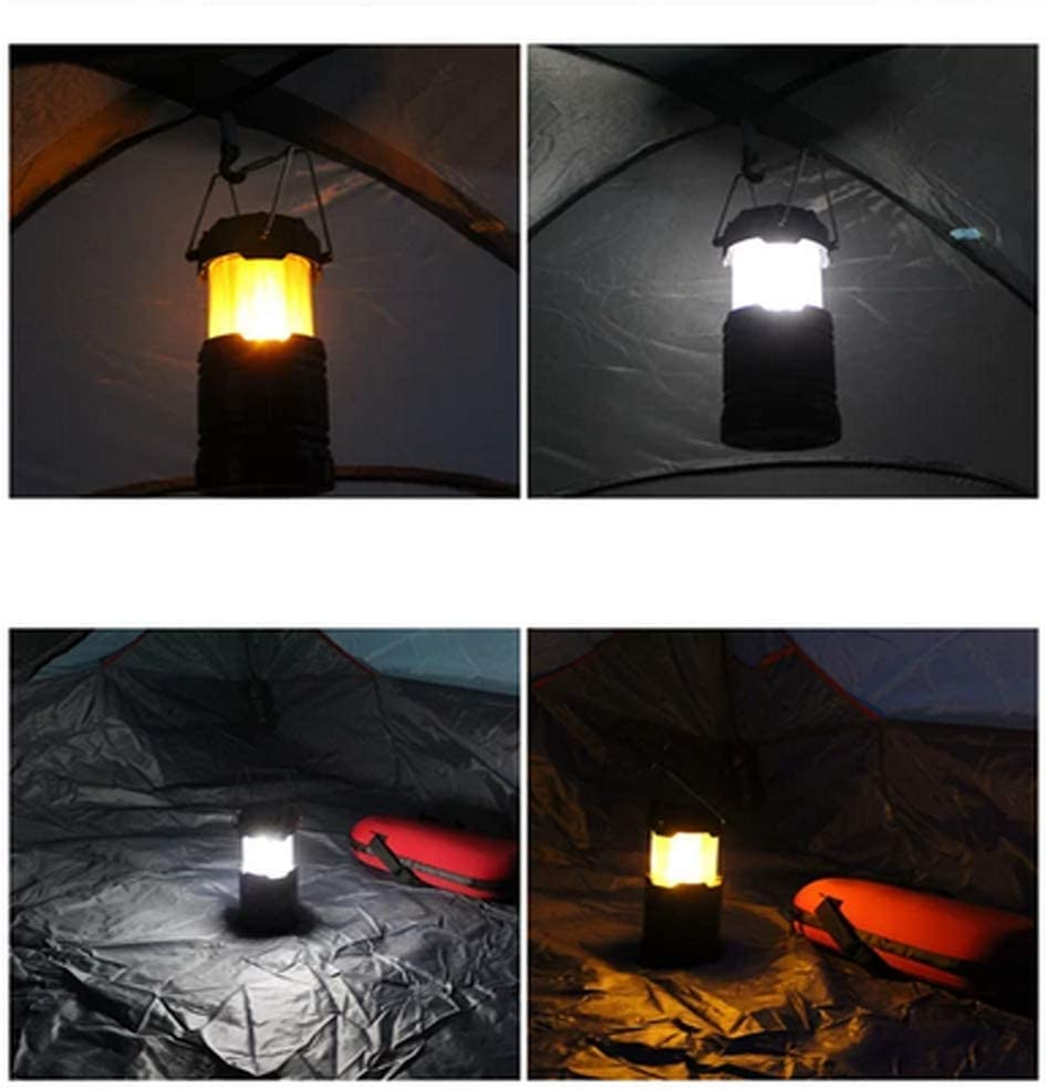 Gold Dragon Honor 3-in-1 Camping Lantern Portable Outdoor LED Flame Lantern Flashlights Solar Camping Lantern