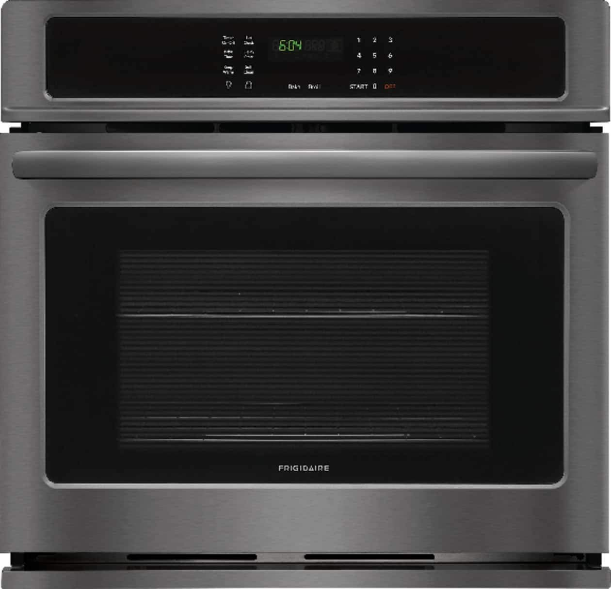 Frigidaire FFEW3026TD 30 Inch 4.6 cu. ft. Total Capacity Electric Single Wall Oven with 2 Oven Racks, in Black Stainless Steel