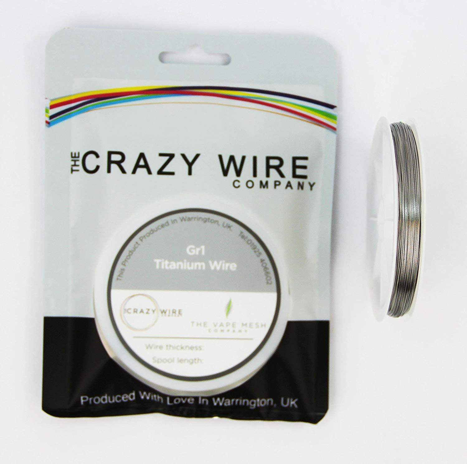 28 AWG (0.3mm) Grade 1 Titanium Vacuum Annealed Wire - 10 Metres (33ft) The Crazy Wire Company