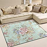 ALAZA Fresh Spring Flowers Area Rug Rugs for Living Room Bedroom 7'x5′ For Sale