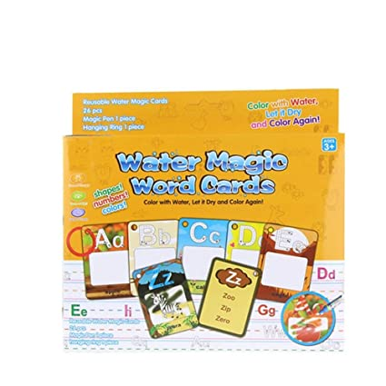 Amazon.com: Tarjeta de dibujo de agua mágica para niños de ...