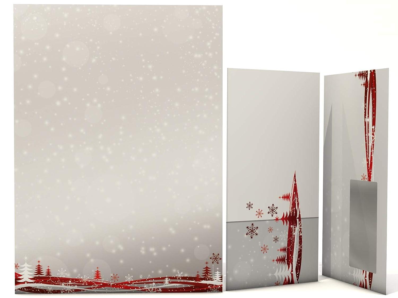 50/fogli e 50/Buste Carta da lettere natalizia con finestra Busta Fest der Liebe