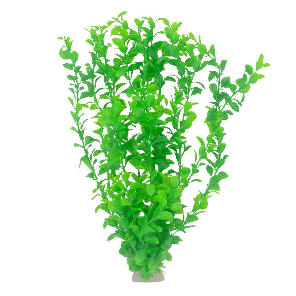 Green Set Aquarium Plants Plastic Fish Tank Decorations Small Shrub Vivid Simulation Plant