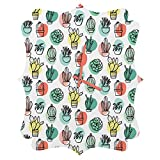 Deny Designs Zoe Wodarz, Summer Days Cactus, Quatrefoil Clock, Medium