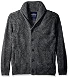 Superdry Men's Shawl Cardigan, Tweed Grey Twist, L