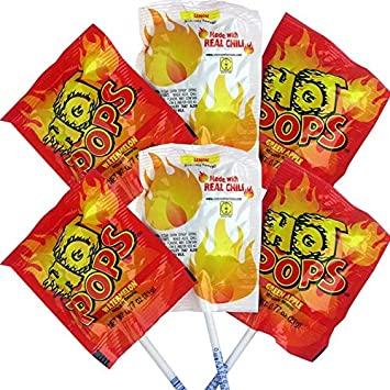 Cima Super Hot Real Chili Infused Hot! Lollipops - Estuche ...