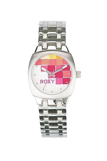 1f8ba7b53 Roxy Abc - Reloj de mujer de cuarzo, correa de acero inoxidable color  plata: Amazon.es: Relojes