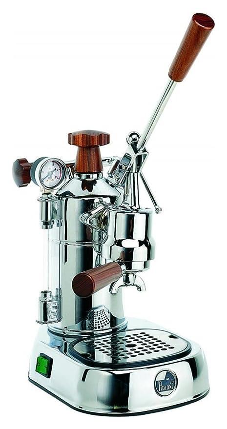 La Pavoni PLH Professional Lusso máquina de café espresso manual asas de madera Depósito 1.6 litros