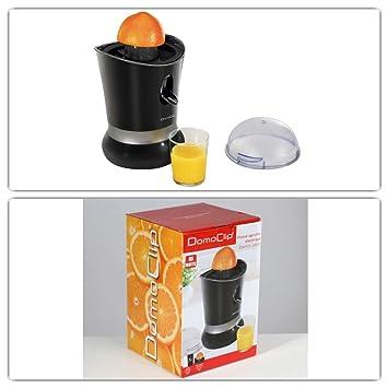cítricos de prensa con arranque automático en negro (Exprimidor de frutas para zumos, Zumo