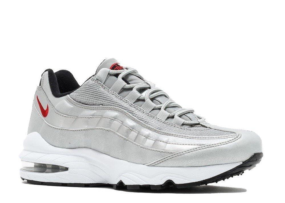 Junior Nike Air Max 95 QS 918630 001 Metallic Silver Red
