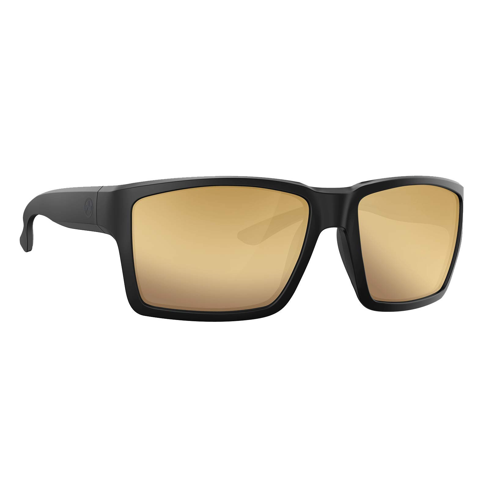 Mapgul Explorer XL Sunglasses Outdoor and Shooting Eyewear, Matte Black Frame/Bronze Lens with Gold Mirror, Polarized by Magpul