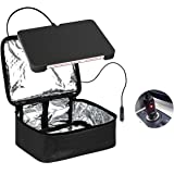 Food Warmer Personal Portable Mini Oven Electric Lunch Warmer For 12V Car ,Truckers,Outdoors Travel, Camping,Black