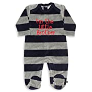 The Essential One Baby Boys' Little Brother Coverall Newborn Blue