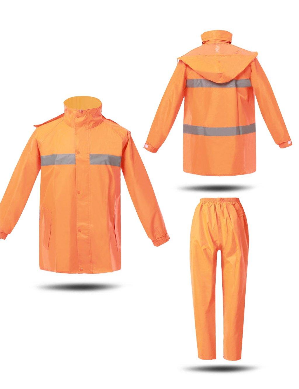 Regen Anzug Regenbekleidung Regenmantel Regenanzug für Männer Wiederverwendbar (Regenjacke und Regenhose Set) Erwachsene regendicht Winddicht mit Kapuze Outdoor-Arbeit Regenjacken (größe   XL) B07FY9VFHC Jacken Moderne und stilvolle M