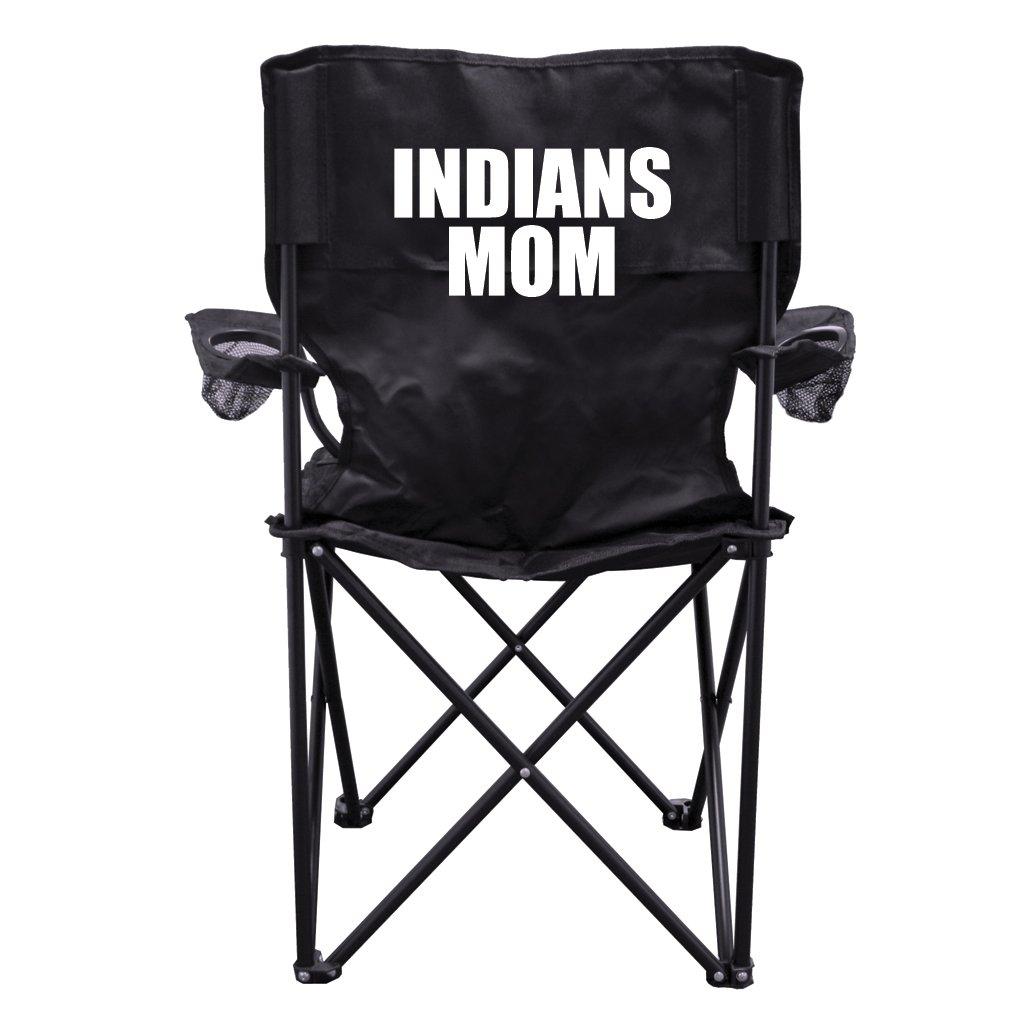 Indians Momブラック折りたたみキャンプ椅子with Carryバッグ B00M97JHHO