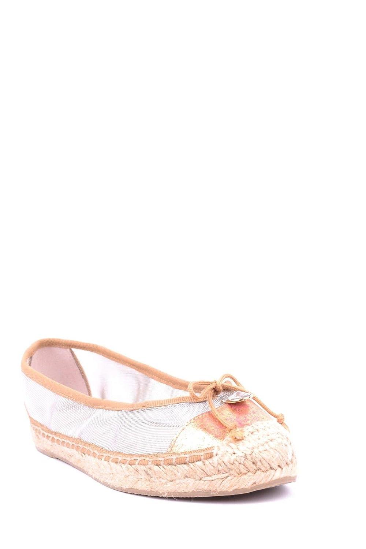 RAS Womens MCBI16435 Gold Fabric Flats